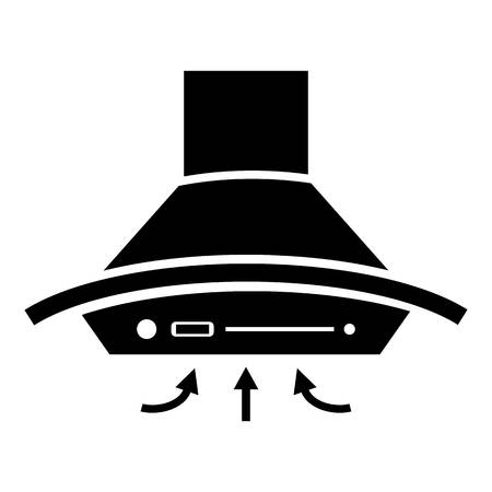 Cooker hood icon. Simple illustration of cooker hood vector icon for web Çizim
