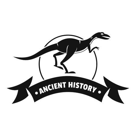 Jurassic raptor logo. Simple illustration of jurassic raptor vector logo for web