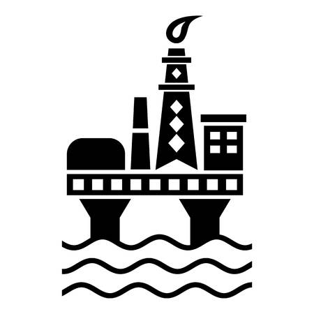 Oil platform icon. Simple illustration of oil platform vector icon for web