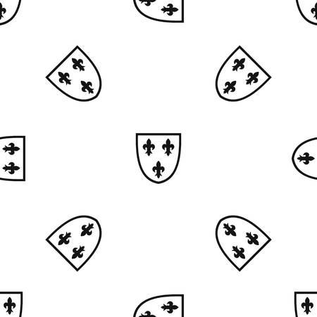 Crest pattern repeat seamless in black color for any design. Vector geometric illustration
