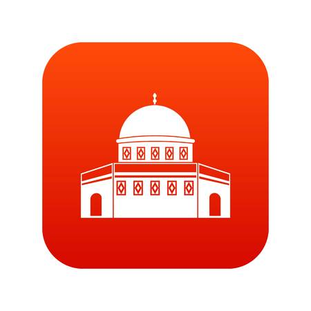 Dome of the Rock on the Temple Mount icon digital red