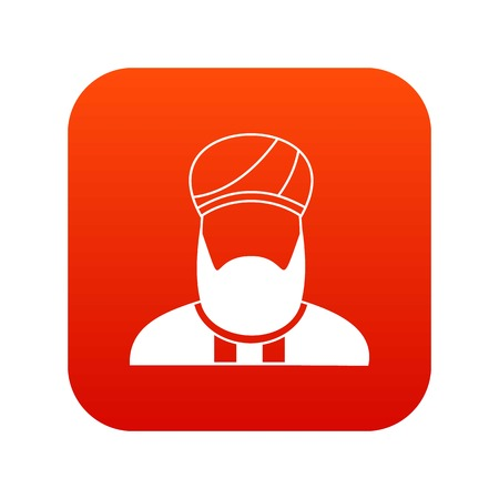 이슬람 설교자 아이콘 디지털 빨간색