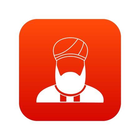 Muslim preacher icon digital red