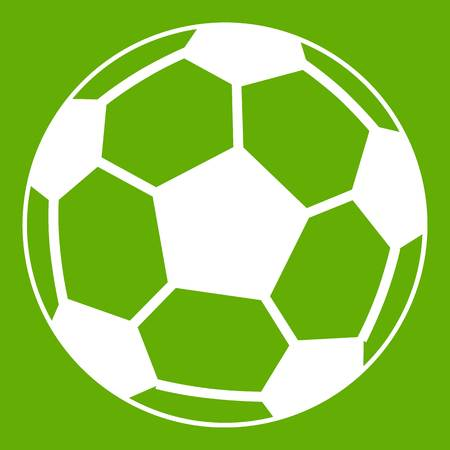 Soccer ball icon green