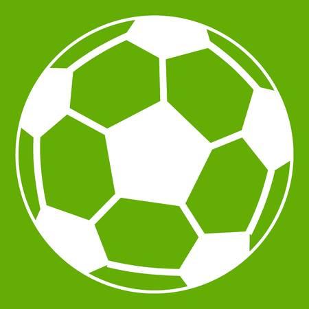 Soccer ball icon green