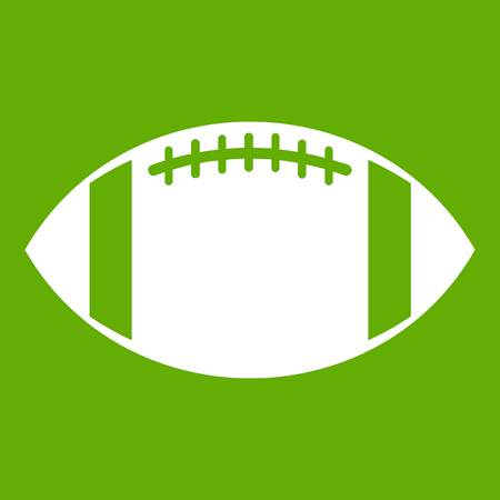 Rugby ball icon green Illustration