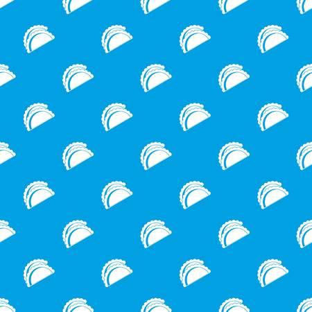 Empanadas de pollo pattern seamless blue Illustration