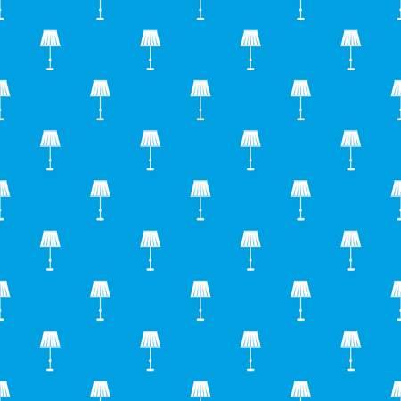 Floor lamp pattern seamless blue
