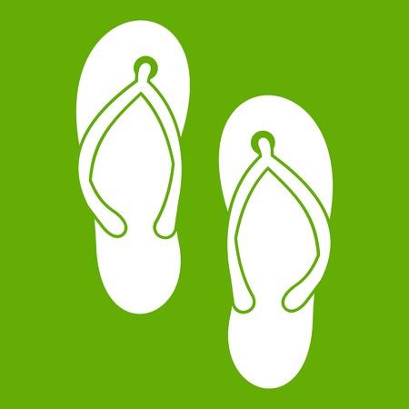 Beach thongs icon green