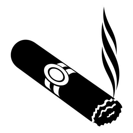 Cigar icon, simple black style