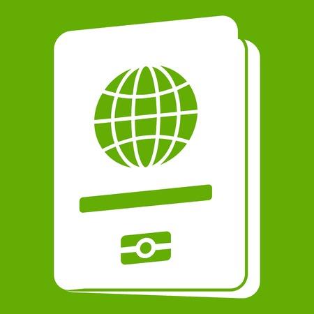 Passport icon green
