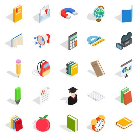 Tract icons set, isometric style Illustration