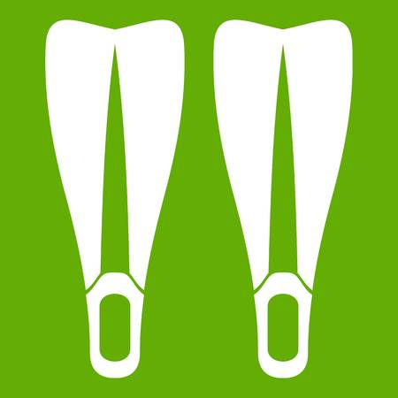 Flippers icon green Illustration