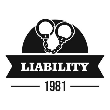 Liability logo, simple black style