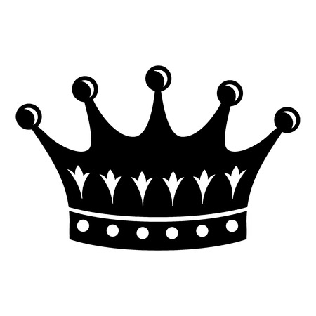 Crown icon, simple black style