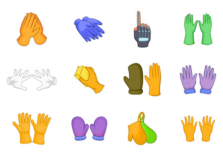 Gloves icon set. Cartoon set of gloves vector icons for your web design isolated on white background