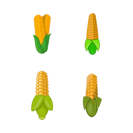Maize icon set. Cartoon set of maize vector icons for your web design isolated on white background