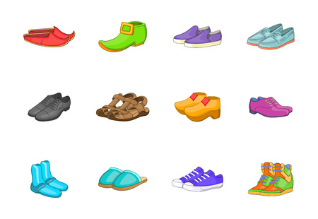 Shoes icon set. Cartoon set of shoes vector icons for your web design isolated on white background