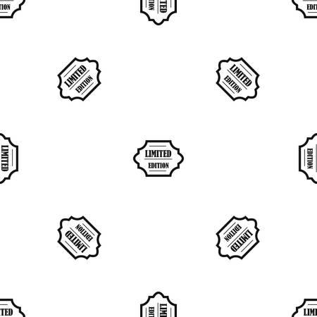 Limited edition pattern repeat seamless in black color for any design. Vector geometric illustration