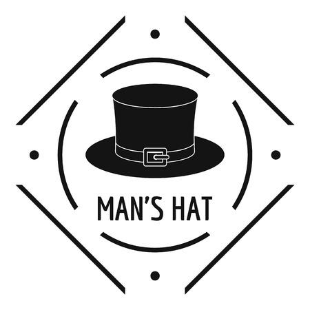 Cylinder hat logo. Simple illustration of cylinder hat vector logo for web