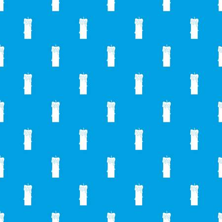Memorial candle pattern repeat seamless in blue color for any design. Vector geometric illustration Vettoriali