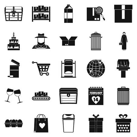 Cupboard icons set. Simple set of 25 cupboard vector icons for web isolated on white background Иллюстрация