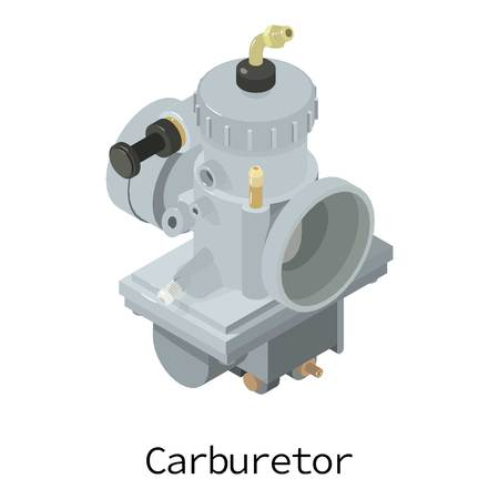 Carburetor icon. Isometric illustration of carburetor vector icon for web