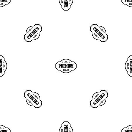 Premium kwaliteitslabelpatroon herhaal naadloos in zwarte kleur voor elk ontwerp. Vector geometrische illustratie