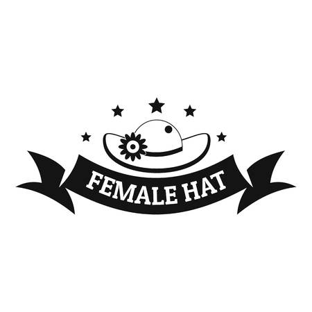 Female hat logo. Simple illustration of female hat vector logo for web