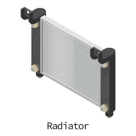 Radiator car icon. Isometric illustration of radiator car vector icon for web