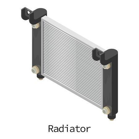 Radiator car icon. Isometric illustration of radiator car vector icon for web