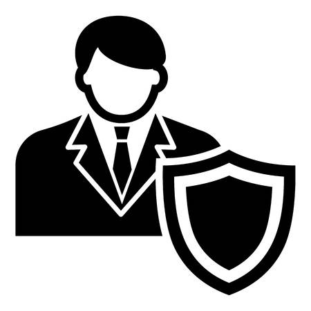 Businessman protection icon. Simple illustration of businessman protection vector icon for web