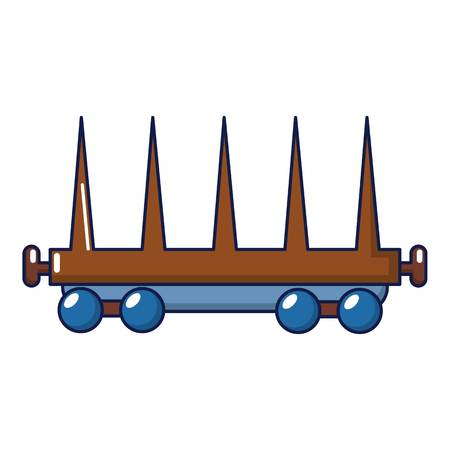 Delivery wagon icon, cartoon style Illustration