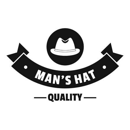 Quality hat logo, simple black style