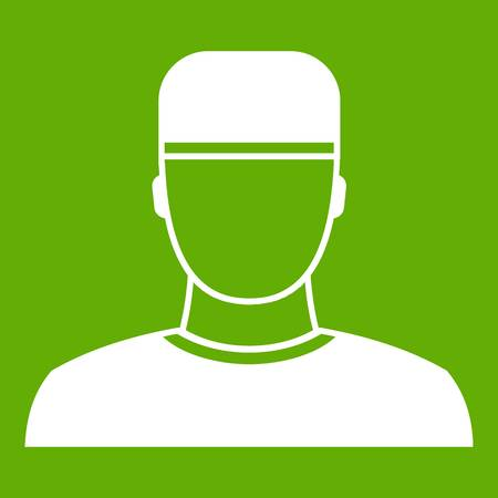 Doctor icon on green background 일러스트