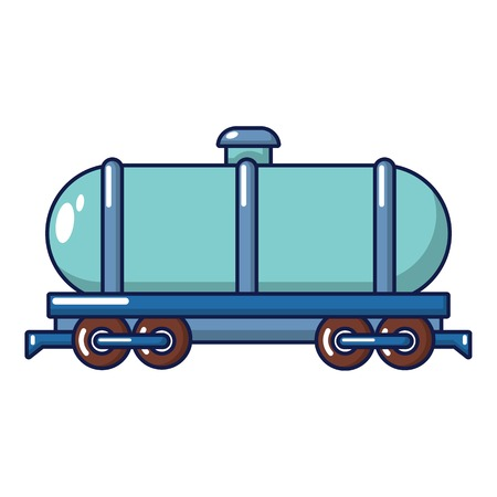 Tank car icon, cartoon style Illustration