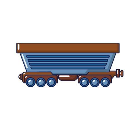 Cargo train icon, cartoon style Illustration