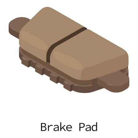 Brake pad icon, isometric 3d style