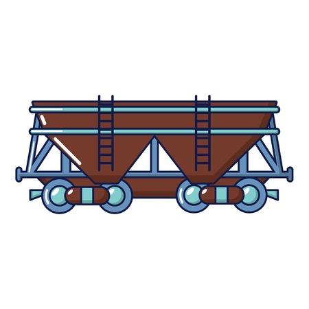 Wagon icon, cartoon style
