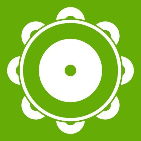 Tambourine icon green