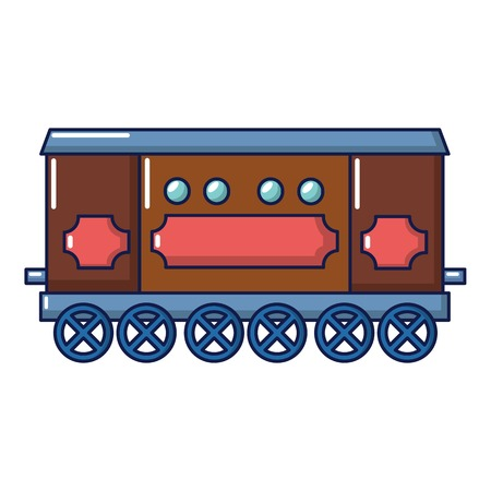 Compartment carriage icon, cartoon style