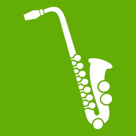 Saxophone icon green