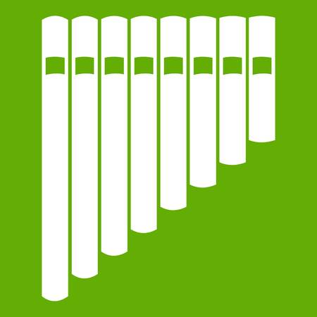 Pan flute icon green