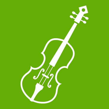 Cello icon green Illustration