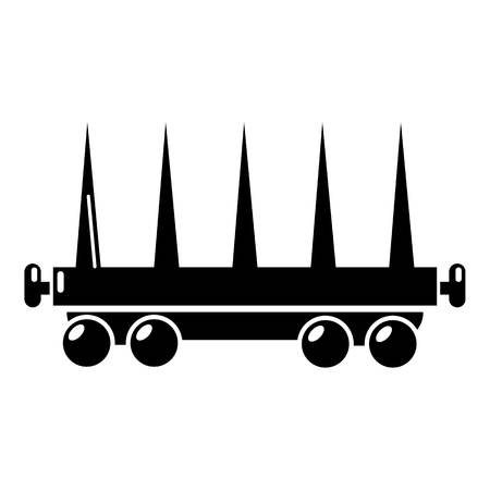 Delivery wagon icon, simple style Illustration