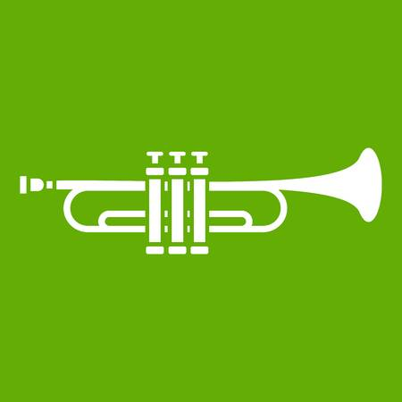 Brass trumpet icon green