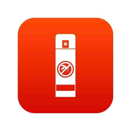 Mosquito spray icon digital red
