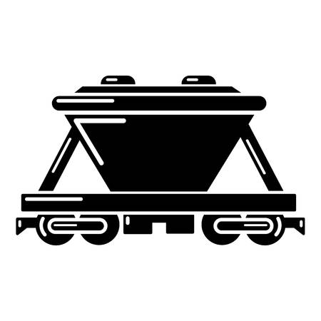 Goods train icon. Simple illustration of goods train vector icon for web Illustration