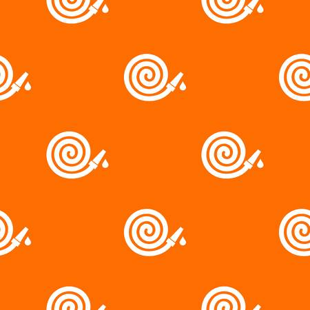 Garden hose pattern repeat seamless in orange color for any design. Vector geometric illustration