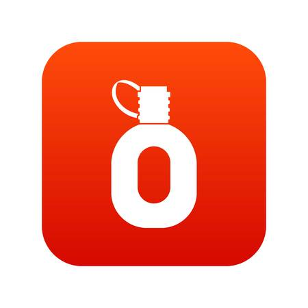 Tourist flask icon digital red for any design isolated on white vector illustration